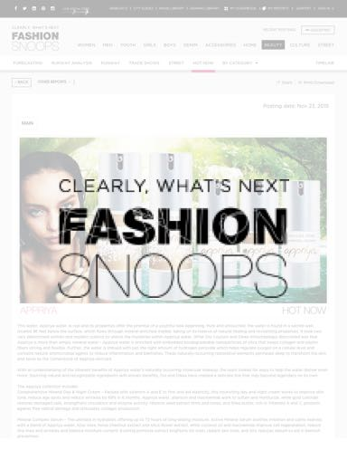 Appriya is featured in Fashion Snoops!