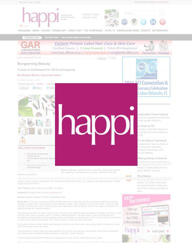 Appriya is featured in Happi!