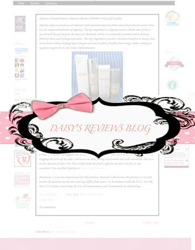 Appriya is featured in Daisey's Review Blog!